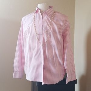 Pink Stripped Blouse 1x